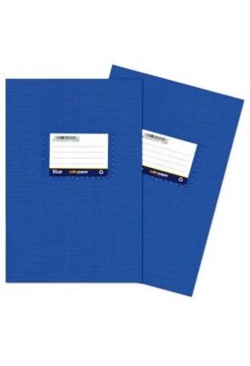 Τετράδιο πλαστικό μπλε Μ.Φ.
