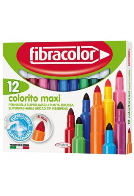 Μαρκαδόροι Fibracolor New Colorito maxi