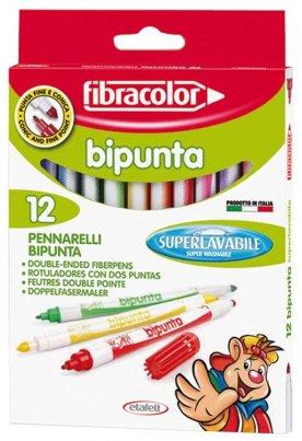 Μαρκαδόροι με 2 μύτες Fibracolor Bipunta