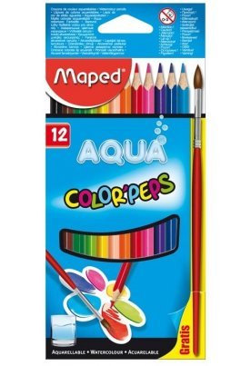 Maped Ξυλομπογιές Νερού Color Peps