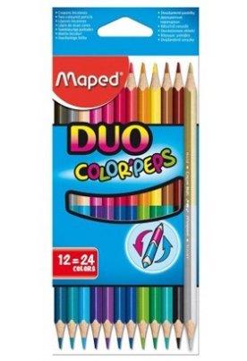 Ξυλομπογιές Διπλής Όψης Maped Duo Color Peps
